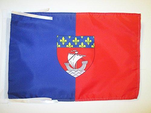 AZ FLAG Flagge DÉPARTEMENT Paris 45x30cm mit Kordel - Paris Fahne 30 x 45 cm - flaggen Top Qualität