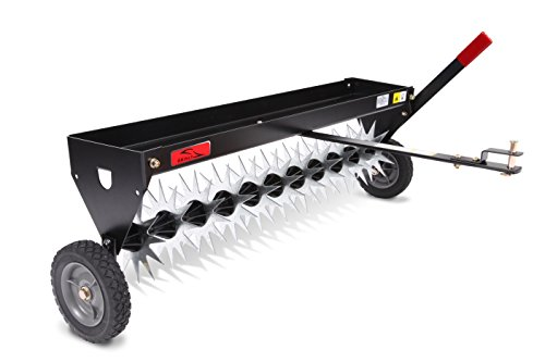 Brinly SAT-40BH Tow Behind Spike Aerator with Transport Wheels, 40-Inch