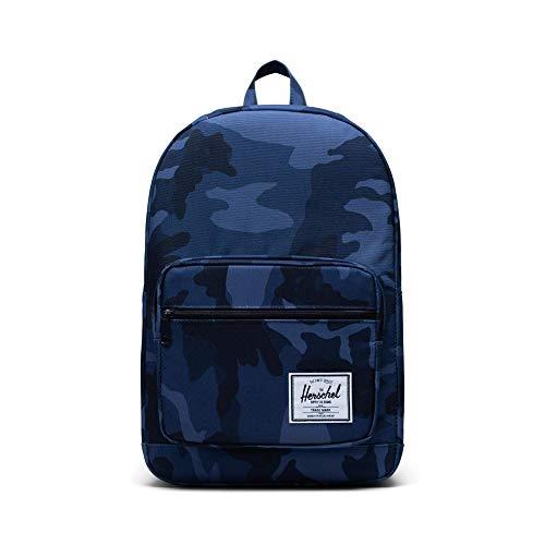 Herschel Pop Quiz Backpack, Black/Ink Blue, Mid-Volume 13L