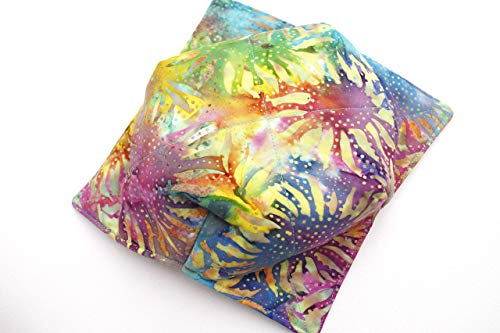 Batik Sunflower Quilted Fabric Microwave Bowl Cozy