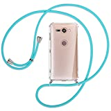 mtb more energy® Collier pour Sony Xperia XZ2 Compact (5.0'') - Turquoise - Coque pour Smartphone...