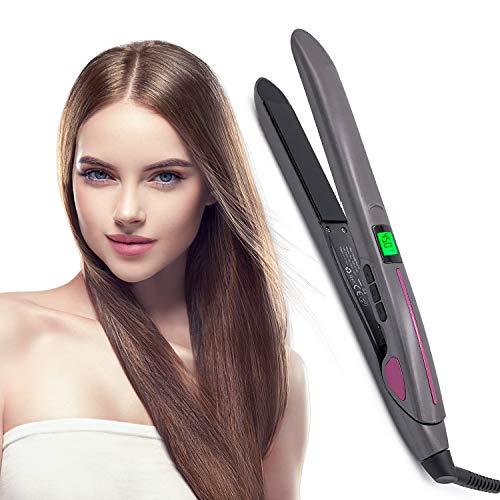 NAIYO Hair Straightening Irons Hair Professional Salon Hair Straightener Argan Oil Tourmaline Ceramic Titanium Straightening Flat Iron for Healthy Styling