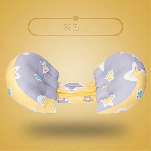 Oreiller de maternité, Oreiller de maternité multifonctionnel Oreiller de couchage à la taille Oreiller de maternité pour le ventre Oreiller multifonctionnel en forme de U Produits pour et bébé XL L