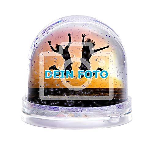 Glitzerkugel mit eigenem Foto gestalten (Schneekugel mit individuellem Bild Bedruckt; per Thermo-Sublimationsdruck, aus Acrylglas, Valentinstag) (funkelnder Glitzer)