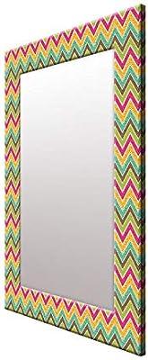 999Store Printed Multi Color Zig zag Pattern Mirror