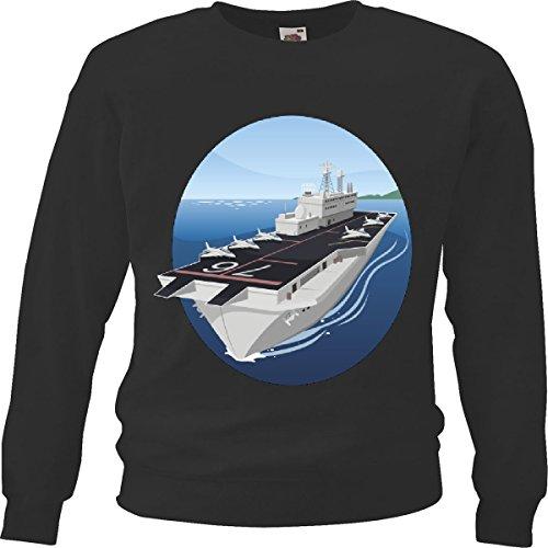 Trui voor vliegtuig, marine, zeevaart, titanic, zwart
