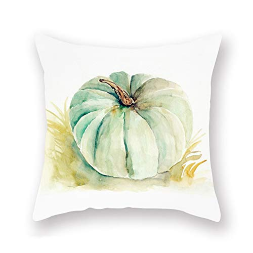 Aremazing Watercolor Pumpkin Leaves Super Soft Throw Pillow Case Decorative Cushion Cover Autumn Fall Harvest Farm Decor Pillowcases 18''x18'' for Halloween Thanksgiving Sofa Bedroom