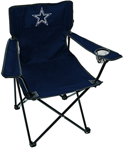 Rawlings NFL Gameday Elite Lightweight Folding Tailgating Chair, with Carrying Case, Dallas Cowboys