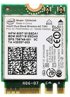 Dual Band Wireless-AC 7265 802.11ac, Dual Band, 2x2 Wi-Fi + Bluetooth 4.0 - (7265NGW) Compatible