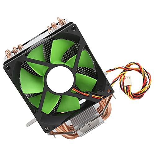 Ventilador de enfriamiento de CPU, enfriador de CPU de 9 cm, radiador de ventilador doble de 3 pines, silencioso, eficiente, fácil instalación y extracción Ventilador de enfriamiento de CPU, con 6 tub