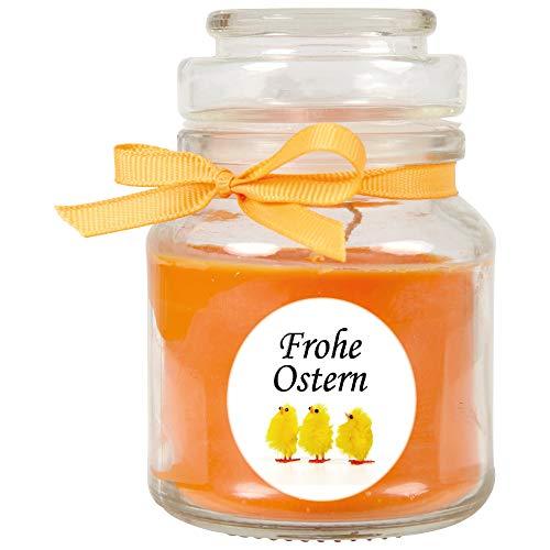 HS Candle Duftkerze als Ostergeschenk (Honigmelone-Duft), Design: Küken - Kerze als Osterdeko - 120g. Wachs mit ca. 30 Stunden Brenndauer