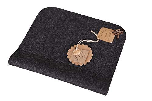 NATURE FIT ergonomisches Mauspad, Mousepad mit Handgelenksauflage aus Wollfilz, Applikation aus Kokosnuss, Handmade & Design in Bavaria, Farbe Anthrazit