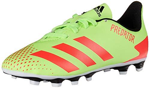 adidas Predator 20.4 Firm Ground Soccer Shoe, Signal Green/Pop/Black, 10.5K Mens