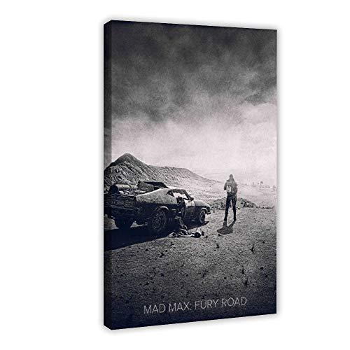 Poster su tela, motivo: Mad Max Fury Road 2015, decorazione da parete, per soggiorno, camera da letto, 60 x 90 cm, stile cornice1