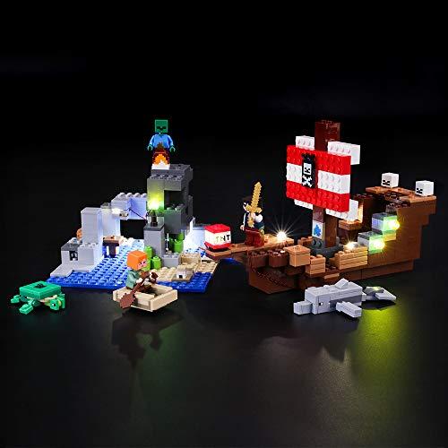 BRIKSMAX Kit de Iluminación Led para Lego Aventura del Barco Pirata,Compatible con Ladrillos de Construcción Lego Modelo 21152, Juego de Legos no Incluido