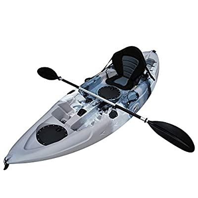 Brooklyn Kayak Company BKC UH-FK184 9' Sit on Top Single Fishing Kayak Seat And Paddle included