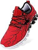 BRONAX Zapatos para Correr Hombre Zapatillas de Deportes Tenis Deportivas Running Calzado Trekking Sneakers Gimnasio Transpirables Casual Montaña Rojo 44