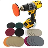 """21 packs Car Headlights cleaning kit DIY Polishing Kit Lights Polishing Headlight Restoration Kit for Electric Drill, 3"""" Scouring Pads + High-Precision Waterproof Sanding Discs"""
