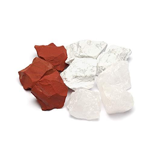 Roter Jaspis und Magnesit