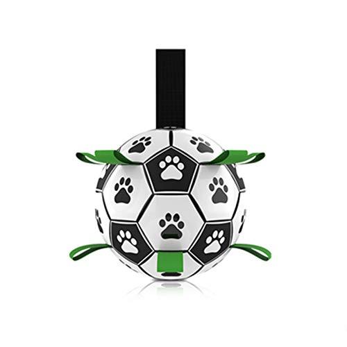 MaQyq Juguetes de fútbol para Perros, Peso Ligero Alto elástico pequeño Mediano Perro Juguetes de Pelota para Perros fútbol Flotante al Aire Libre en el Agua Piscina Playa Pradera