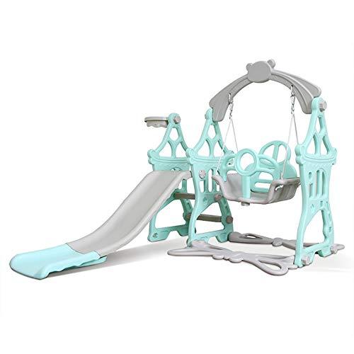 JW-YZWJ Escalador de niños y Juego de Swing, 3 en 1 Escalador Tline Playset con aro de Baloncesto, escaleras de Ascenso sin Deslizamiento, jugadas para niños para Juguetes en Interiores y Exteriores