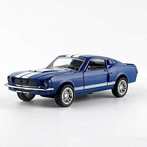 Sylbf Modello d'auto Ford Mustang GT500 1967 Modello 1,32 Simulation Model Car Lega di Fusione sotto Pressione Modello Boy Regalo (Colore: Rosso) (Color : Blue)