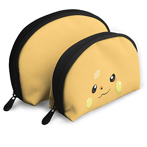 Raichu ライチュウ シェル型バッグ 親子ポーチ 収納袋 メイクポーチ 化粧品バッグ シェルポーチ おしゃれ 小物入れ 収納整理 旅行 便利 かわいい レディース メンズ クラッチバッグ 多機能 ファスナー 二点セット
