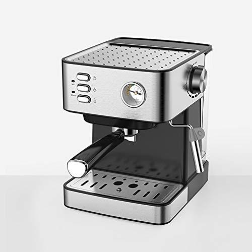 Cafetiere Expresso, Mousseur à Lait pour Cappuccino Pression de 20 bars/Thermomètre observable/1.5 L Amovible Réservoir D'eau/850 watts/pour le domicile/bureau - Argent