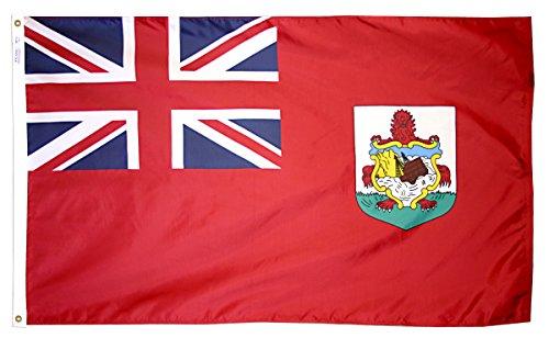 Bermuda Flagge 3x 5ft. Nylon solarguard nyl-glo 100% Made in USA zu offiziellen Vereinten Nationen Design Spezifikationen von Annin flagmakers. Modell 220025