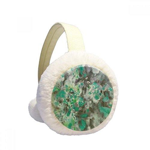 Pintura a óleo verde arte natureza morta inverno protetor de orelhas aquecedor de orelhas de pele sintética dobrável presente ao ar livre