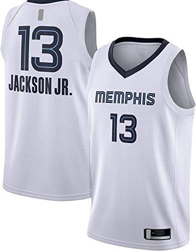 ZMIN Uniformes de Baloncesto para Hombres, Grizzlies13# Jaren Jackson Baloncesto NBA Jerseys Sueltos y cómodos Chaleco de Ocio Deportes Tops de Camiseta,A,L 175~180cm