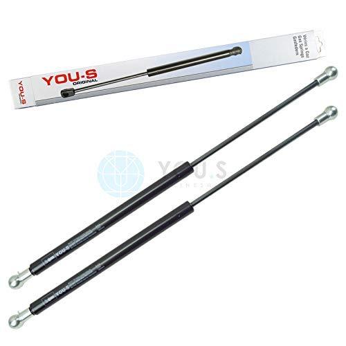 YOU.S 04357777 Gasfeder für Tür-/ Front-/ Heckscheibe Länge: 510 mm Kraft: 220 N (2 Stück)