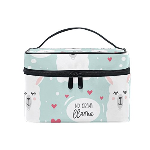 ISAOA Multifunctional Make up Bag No Drama Llama Toiletry Bag Travel Cosmetic Storage Bags Brush Pouch Wash Bag Portable Travel Makeup Case Pouch For Women Girls