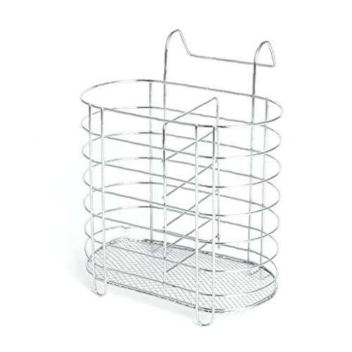 Recipiente para Cubiertos De Metal Colgando Escurridor Cuchara Tenedor Palillos Cesta De Almacenamiento En Rack Vajilla Organizador De Cocina Accesorios para Herramientas
