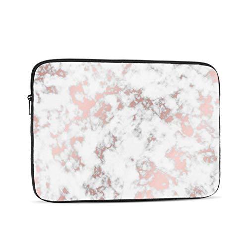 Laptop Sleeve Bag Rose Gold Marble Portable Zipper Tablet Cover Bag Notebook Computer Protective Bag,Black