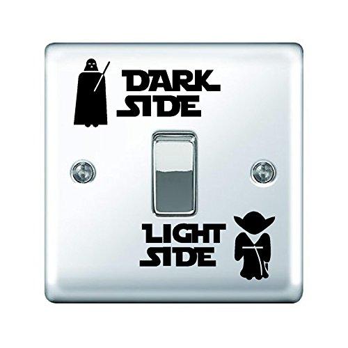Star Wars Dark Light côté Autocollant vinyle Chambre d'enfant Wrap pour interrupteur