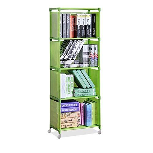 hongbanlemp Estantería de 4 niveles no tejida, para almacenamiento, para dormitorio, sala de estar, oficina, escritorio, color verde