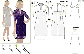 Style Arc Sewing Pattern - Alisha Dress (Sizes 18-30) - Click for Other Sizes Available