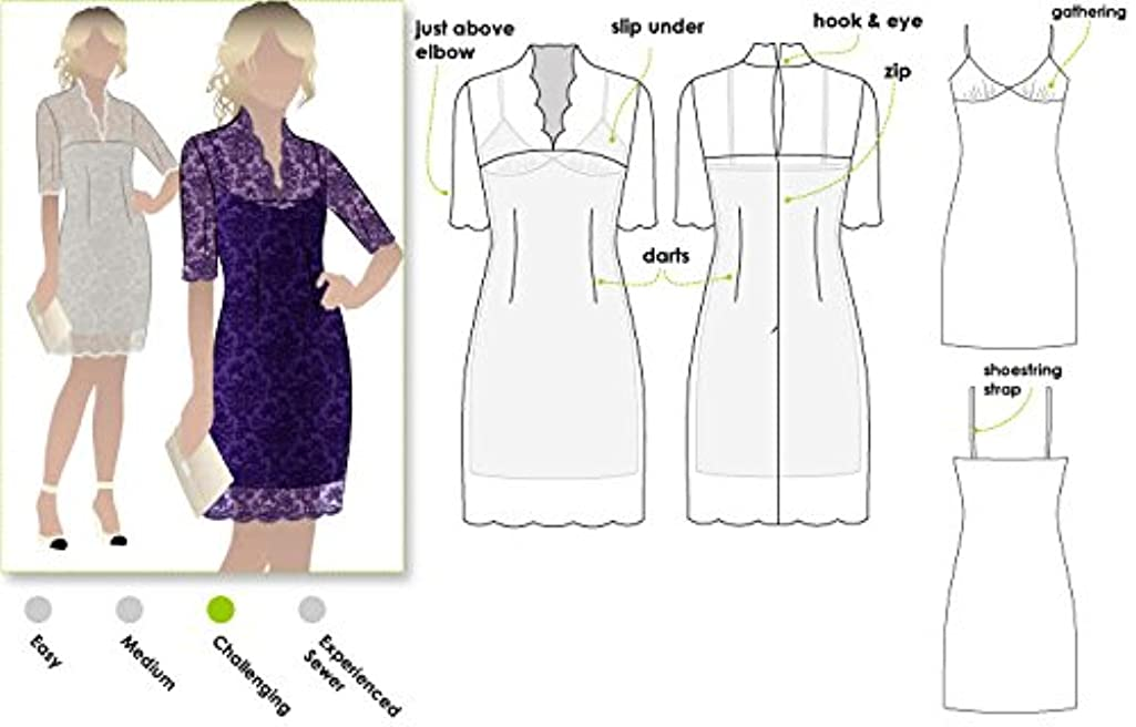 Style Arc Sewing Pattern - Alisha Dress (Sizes 04-16) - Click for Other Sizes Available