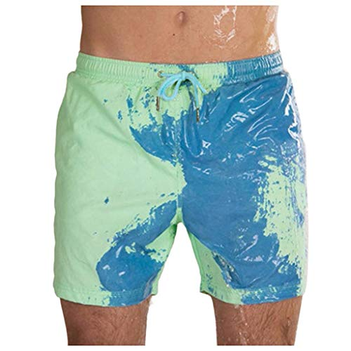 Realde Herren Farbwechselnde Badehose Summer Jungen Schnelltrocknende Badeshorts Männer Farbwechsel Kurze Hose Sport Pool Surfen Schwimmhose Strandshorts