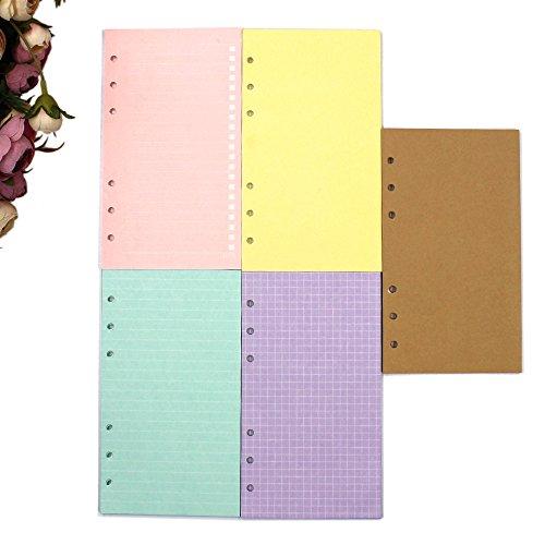 Packung mit 200 Blatt blanko Nachfüllseiten für 6-Loch-Ringbücher, Einlageblätter, Ringbucheinlagen... A6 A6