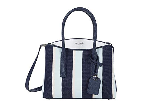 Kate Spade New York Margaux - Borsa a tracolla in tela a righe, misura media, blu (Blazer Blue Multi), Taglia unica