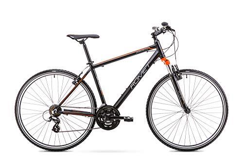 Romet ORKAN M MTB Bike 28 Zoll MTB Fahrrad Mountain Bike Crossbike Fahrrad Shimano 21 Gang 21 Zoll Aluminium Rahmen schwarz-orange