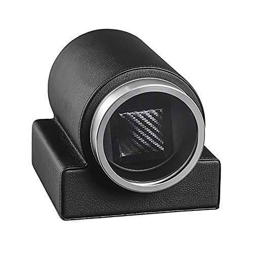 Spinner Wickelkasten Watch-Wickler - Leder-Single-Uhr-Wickelkasten Automatische mechanische Uhr Wickler Staubdichte Uhr Aufbewahrungskoffer Dual-Power-Uhr Shaker-Plattenspieler Ruhig und gut betrieben