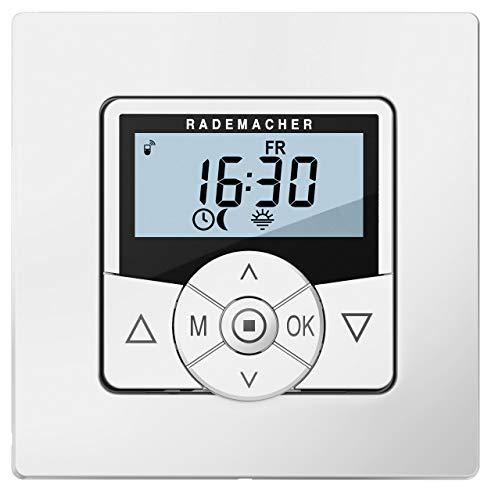 DuoFern HomeTimer 9498-UW (Weiß) - Drahtlose, batteriebetriebene Zeitschaltuhr & Zentralsteuerung für Rollläden