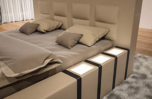 Sofa Dreams Designerbett Asti mit Beleuchtung in Boxspring Optik
