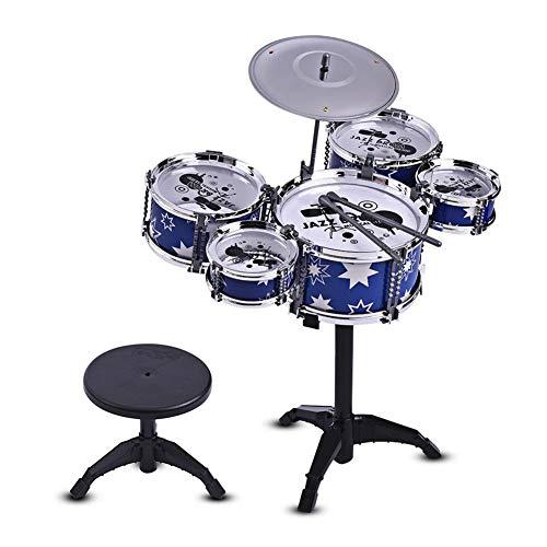 Schlagzeug für Kinder Schlagzeug Percussion Kinderspielzeug Geschenk,Blue