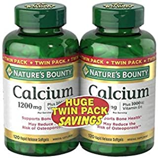 Nature's Bounty Absorbable - Calcium 1200mg Plus 1000IU Vitamin D3 2-Pack