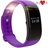Fitness Tracker Watch, TH Fitness Tracker with Heart Rate Monitor Activity Bluetooth Bracelet Watch for IOS and Android Smartwatch