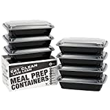 Meal Prep Containers - Food Storage Prep Containers Certified BPA-free - Portion Control, Reusable, Washable, Microwavable Plastic Containers with Lids Bento Box (7 Pack, 1 Compartment, 28 Ounce)